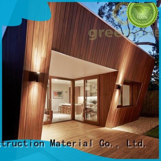 Greenzone original plastic wood effect cladding manufacturer yard