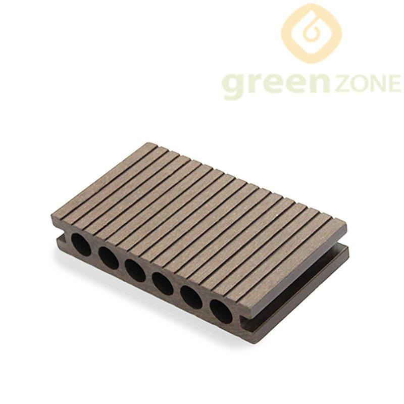 DEP14025R WPC Round hole Hollow Exterior Flooring features with strong rigidity