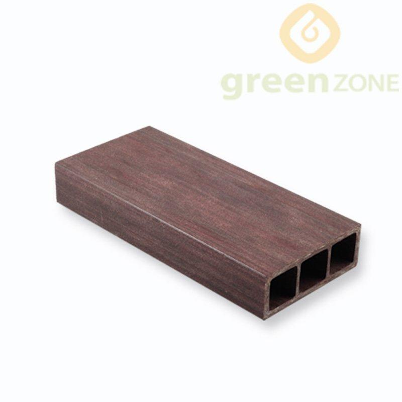 B35 Anti-moisture and termites free Wood Plastic Composite Interior Hollow Timber Tube 35*100mm