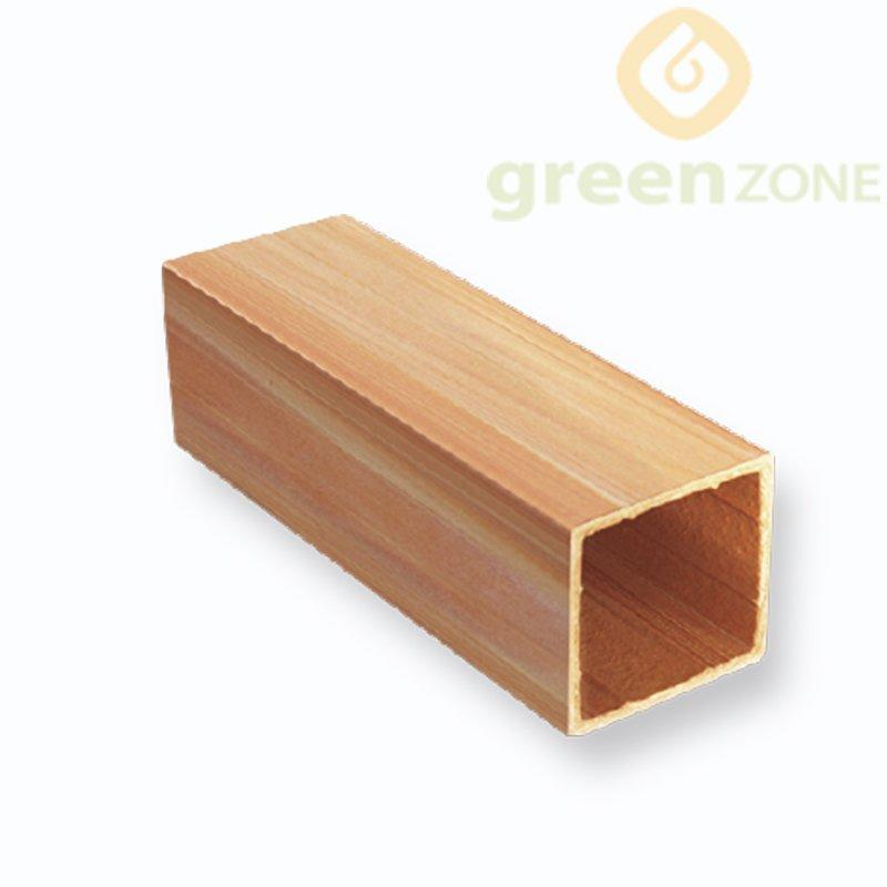 B50F    Fire-retardant WPC Decoration Material Hollow Square Timber Tube 50*50mm
