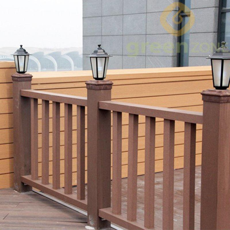 BR-1  Water-proof and no-toxic Wood Plastic Composite Outdoor Decorative Railing W1.40 x H1.20 M