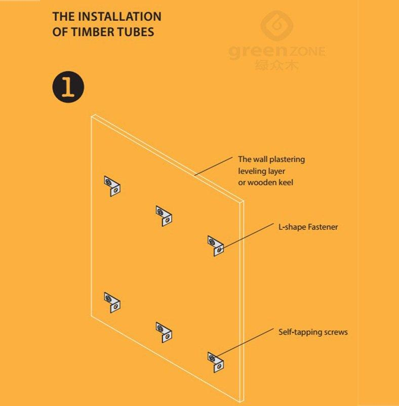 Timber tube installation method