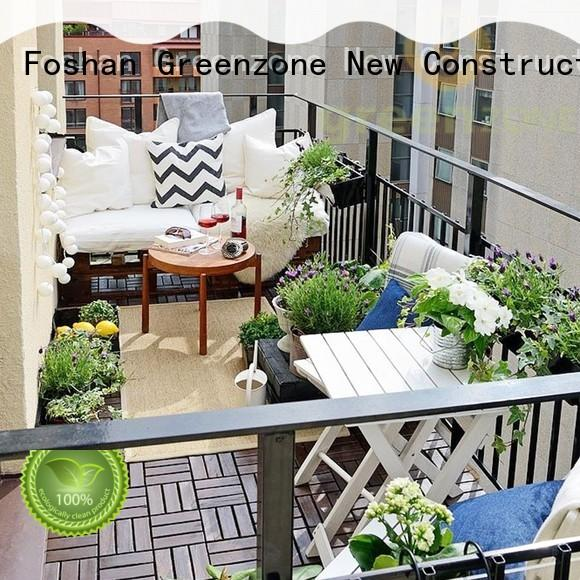 Greenzone uv-resistance wood decking material options DIY for outdoor