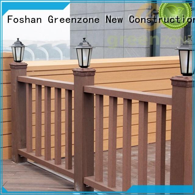Greenzone waterproof wooden balcony railing wholesale outside yard