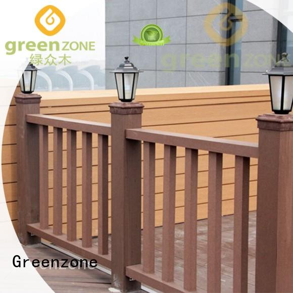 Greenzone no toxic carved wood wall art decorative railing outside yard