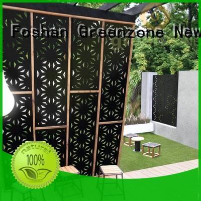 Greenzone plastic wpc fence panels wood plastic garden