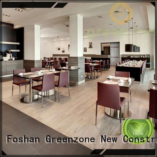 Greenzone waterproof high quality vinyl flooring easy install restaurant