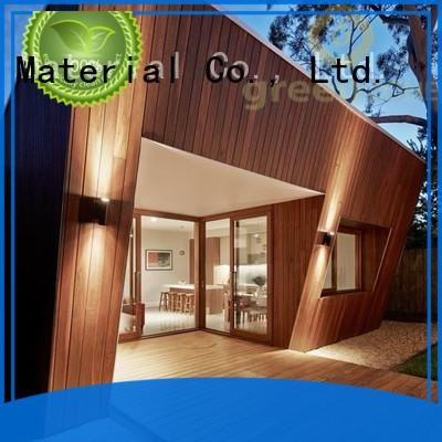 Greenzone coextrusion wood plank wall paneling manufacturer yard