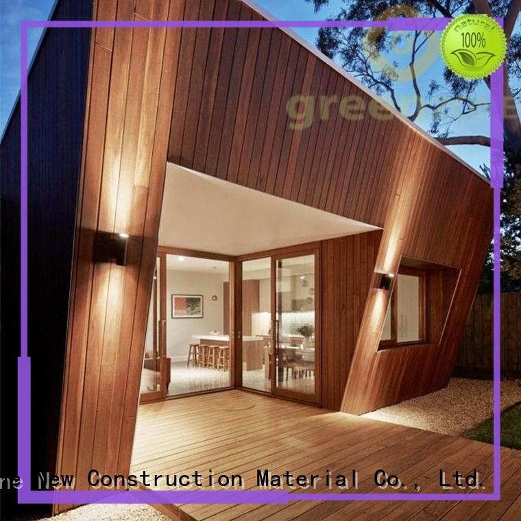 Greenzone color wood cladding panels manufacturer house