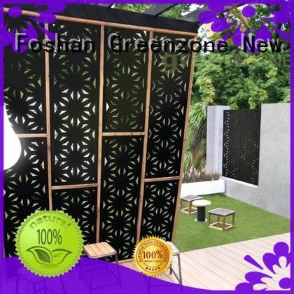 Greenzone waterproof wooden garden furniture wood plastic outside yard