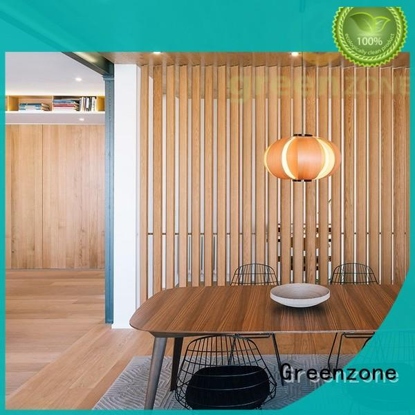 Greenzone best WPC louvre panel customization hotel