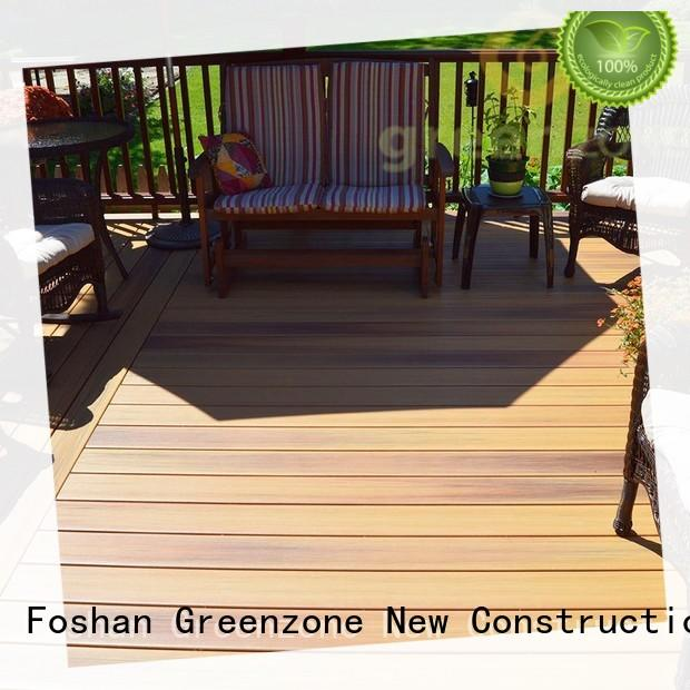 Greenzone wall decorative patio wood flooring hollow resort