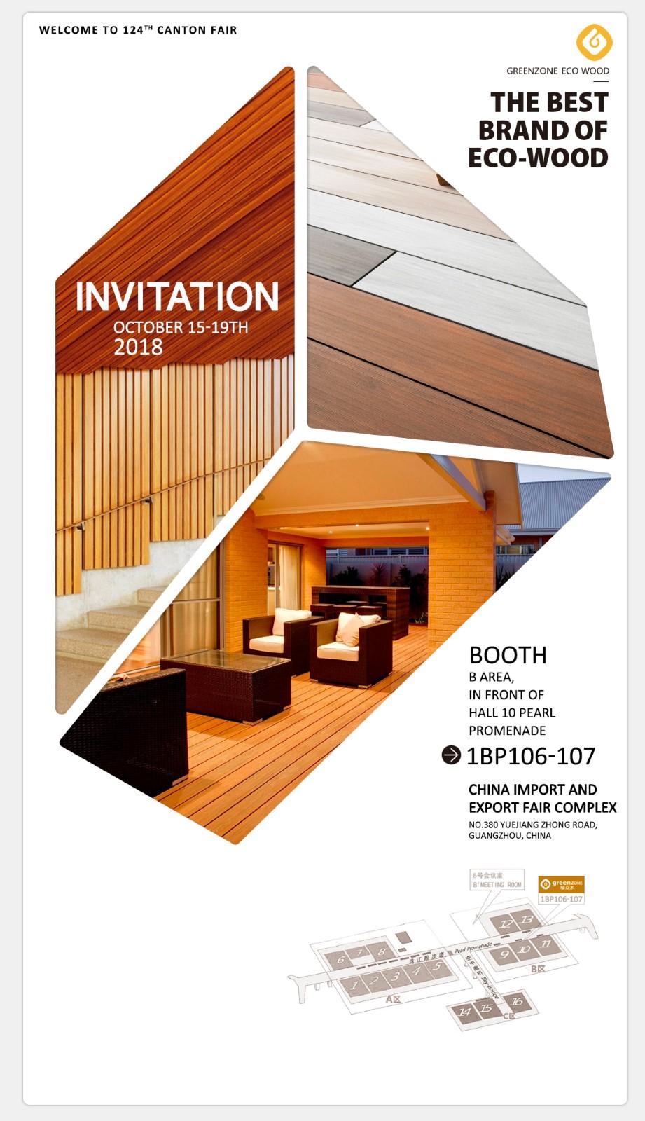 Greenzone-Invitation of Greenzone 124th Canton Fair 2018 | Marble Wall Art
