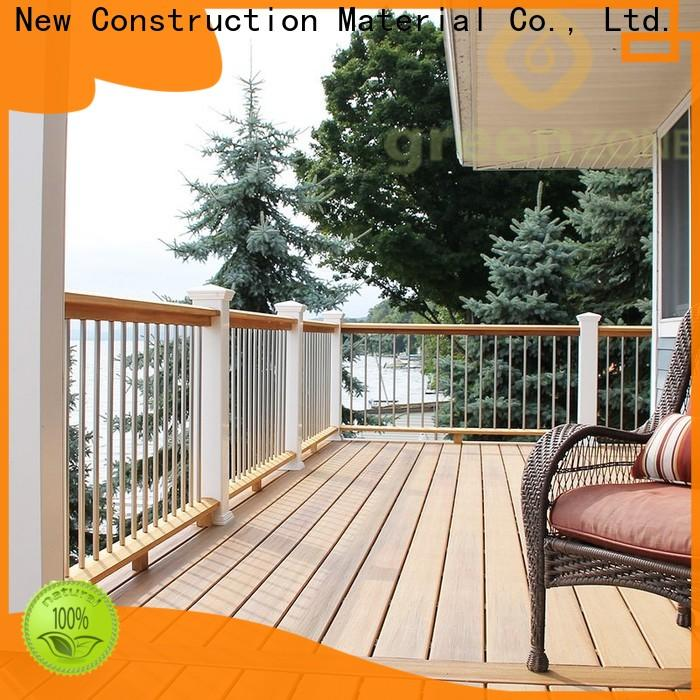 Greenzone custom wpc wood plastic composite hollow shopping mall